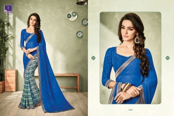 SHANGRILA INOX VOL 2 GEORGETTE PRINTS SAREES CASUAL WEAR BEST RATE BY GOSIYA EXPORTS SURAT (6)