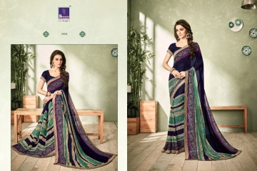 SHANGRILA INOX VOL 2 GEORGETTE PRINTS SAREES CASUAL WEAR BEST RATE BY GOSIYA EXPORTS SURAT (7)