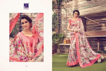 SHANGRILA KANCHANA COTTON FANCY COTTON LINEN PRINTED SAREE CATALOG IN WHOLESALE BEST ARTE BY GOSIYA EXPORTS SURAT (10)