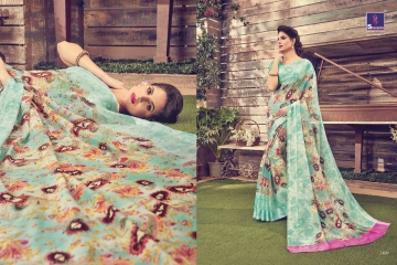 SHANGRILA KANCHANA COTTON FANCY COTTON LINEN PRINTED SAREE CATALOG IN WHOLESALE BEST ARTE BY GOSIYA EXPORTS SURAT (12)