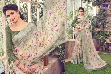 SHANGRILA KANCHANA COTTON FANCY COTTON LINEN PRINTED SAREE CATALOG IN WHOLESALE BEST ARTE BY GOSIYA EXPORTS SURAT (3)