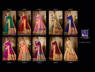 Shangrila presenting katki silk new weaving silk sarees collection BEST RATE BY GOSIYA EXPORTS SURAT (6)