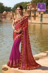 SHANGRILA ROYAL BANDHEJ COLLECTION WHOLESALE BEST RATE CATALOGUE BY GOSIYA EXPORTS SURAT (7)