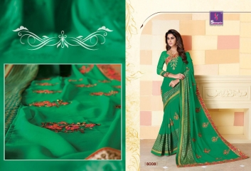 SHANGRILA SPARKLE VOL 2 FANCY FABRICS DESIGNER SAREES FESTIVAL COLLECTION WHOLESALE BEST RATE BY GOSIYA EXPORTS (19)