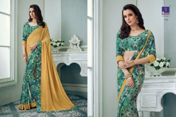 SHANGRILA TISHA CRAPE VOL 3 CATALOGUE CRAPE PRINT CASUAL WEAR SAREES WHOLESALE  DEALER BEST RATE BY GOSIYA EXPORTS SURAT (4)