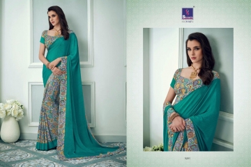 SHANGRILA TISHA CRAPE VOL 3 CATALOGUE CRAPE PRINT CASUAL WEAR SAREES WHOLESALE  DEALER BEST RATE BY GOSIYA EXPORTS SURAT (9)