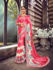 SHANGRILA ZION VOL 3 CATALOG GEORGETTE PRINTS PARTY WEAR SAREES COLLECTION SUPPLIER WHOLESALER (3)