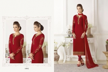 SHAZIYA BY ZEBA CATALOG GEORGETTE EMBROIDERED STRAIGHT PARTY WEAR COLLECTION (2)