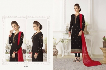 SHAZIYA BY ZEBA CATALOG GEORGETTE EMBROIDERED STRAIGHT PARTY WEAR COLLECTION (6)