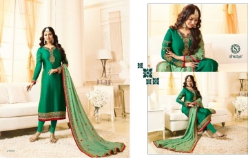 SHAZIYA SAARA CATALOG SATIN GEORGETTE EMBROIDERED JACKET STYLE E (1)