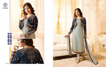 SHAZIYA SAARA CATALOG SATIN GEORGETTE EMBROIDERED JACKET STYLE E (2)