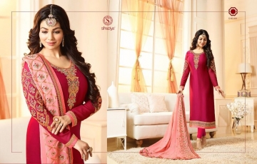 SHAZIYA SAARA CATALOG SATIN GEORGETTE EMBROIDERED JACKET STYLE E (3)