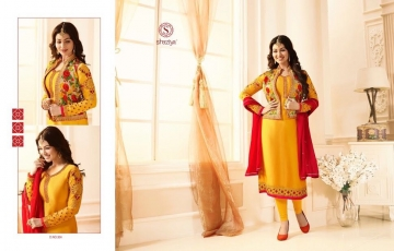 SHAZIYA SAARA CATALOG SATIN GEORGETTE EMBROIDERED JACKET STYLE E (4)