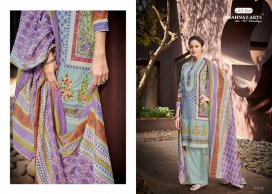 SHEHNAZ ARTS FALAKNUMA PURE LAWN COTTON WHOLESALE DRESS MATERIAL COLLECTION SUPPLIER DEALER BEST RATE BY GOSIYA EXP (1)