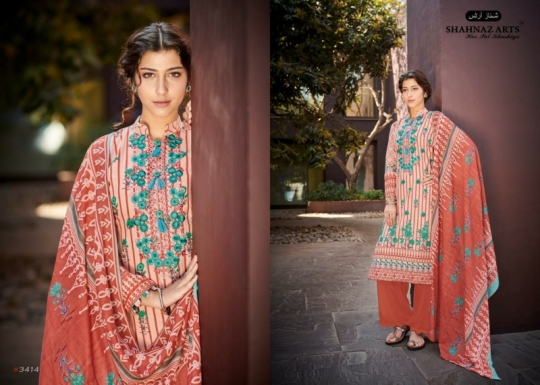 SHEHNAZ ARTS FALAKNUMA PURE LAWN COTTON WHOLESALE DRESS MATERIAL COLLECTION SUPPLIER DEALER BEST RATE BY GOSIYA EXP (4)