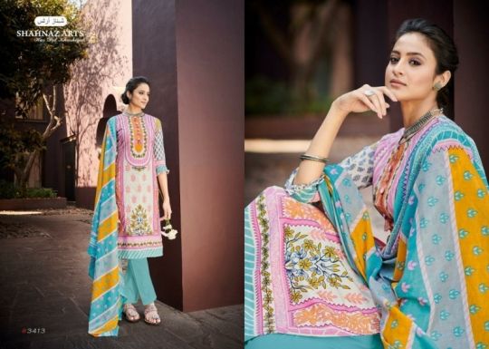 SHEHNAZ ARTS FALAKNUMA PURE LAWN COTTON WHOLESALE DRESS MATERIAL COLLECTION SUPPLIER DEALER BEST RATE BY GOSIYA EXP (6)