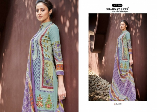 SHEHNAZ ARTS FALAKNUMA PURE LAWN COTTON WHOLESALE DRESS MATERIAL COLLECTION SUPPLIER DEALER BEST RATE BY GOSIYA EXP (7)