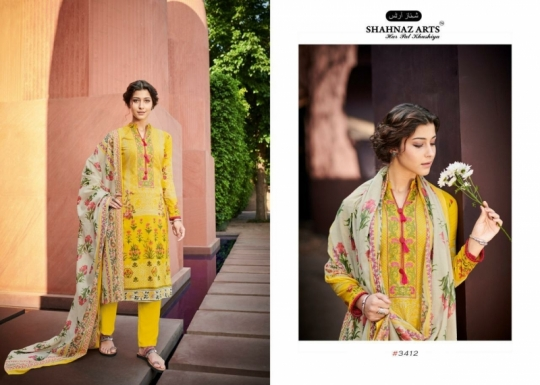 SHEHNAZ ARTS FALAKNUMA PURE LAWN COTTON WHOLESALE DRESS MATERIAL COLLECTION SUPPLIER DEALER BEST RATE BY GOSIYA EXP