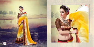 SHRAVIKA LIPSA GEORGETTE PRINTS SAREES CATALOGUE WHOLESALE BEST ARET BY GOSIYA EXPORTS SURAT (12)