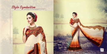 SHRAVIKA LIPSA GEORGETTE PRINTS SAREES CATALOGUE WHOLESALE BEST ARET BY GOSIYA EXPORTS SURAT (15)