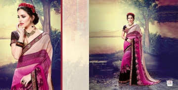 SHRAVIKA LIPSA GEORGETTE PRINTS SAREES CATALOGUE WHOLESALE BEST ARET BY GOSIYA EXPORTS SURAT (16)