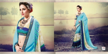 SHRAVIKA LIPSA GEORGETTE PRINTS SAREES CATALOGUE WHOLESALE BEST ARET BY GOSIYA EXPORTS SURAT (18)