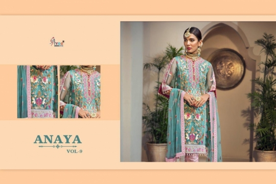 SHREE FAB ANAYA VOL 9 GEORGETTE NET HEAVY EMBROIDERY SALWAR SUIT PAKISTANI CONCEPT WHOLESALE DEALER BEST RATE BY GOSIYA EXPORTS (4)