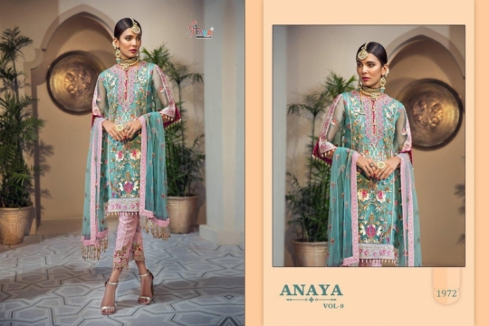 SHREE FAB ANAYA VOL 9 GEORGETTE NET HEAVY EMBROIDERY SALWAR SUIT PAKISTANI CONCEPT WHOLESALE DEALER BEST RATE BY GOSIYA EXPORTS SU (1)
