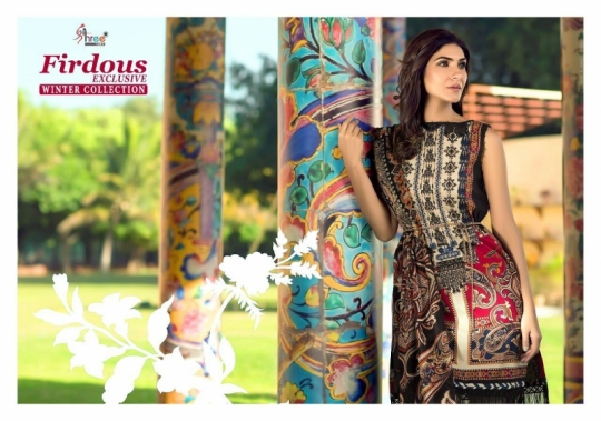 SHREE FAB PRESENTS FIRDOUS EXCLUSIVE WINTER COLLECTION PASHMINA FABRIC DRESS MATERIAL AT WHOLESALE BEST RAT
