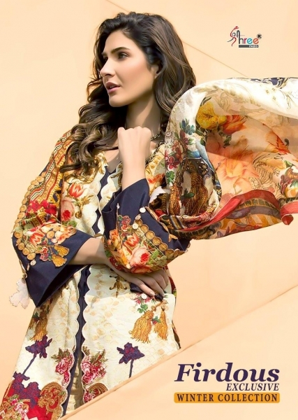 SHREE FAB PRESENTS FIRDOUS EXCLUSIVE WINTER COLLECTION PASHMINA FABRIC DRESS MATERIAL AT WHOLESALE BEST RATE  (1)