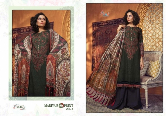 SHREE FAB PRESENTS MARIA B MPRINT VOL 4 COTTON FABRIC DESIGNER PAKISTANI COLLETION SUIT WHOLESALE DEALER BEST RATE BY GOSIY