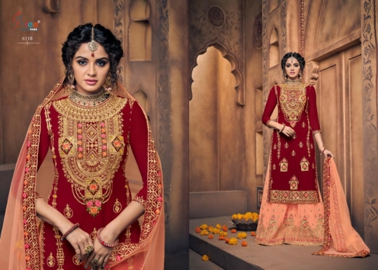 SHREE FAB SHEHNAI BRIDAL COLLECTION VOL 23 GEORGETTE SARARA STYLE SALWAR SUIT WHOLESALE DEALER BEST RATE BY GOSIYA EXPORTS SURAT (1)