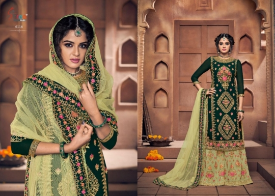 SHREE FAB SHEHNAI BRIDAL COLLECTION VOL 23 GEORGETTE SARARA STYLE SALWAR SUIT WHOLESALE DEALER BEST RATE BY GOSIYA EXPORTS SURAT (3)
