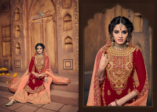 SHREE FAB SHEHNAI BRIDAL COLLECTION VOL 23 GEORGETTE SARARA STYLE SALWAR SUIT WHOLESALE DEALER BEST RATE BY GOSIYA EXPORTS SURAT (6)