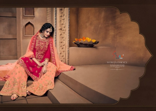 SHREE FAB SHEHNAI BRIDAL COLLECTION VOL 23 GEORGETTE SARARA STYLE SALWAR SUIT WHOLESALE DEALER BEST RATE BY GOSIYA EXPORTS SURAT (8)