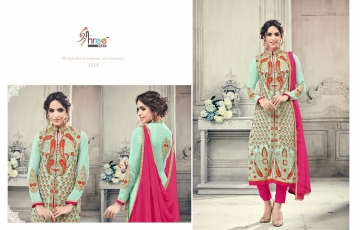 SHREE FABS FIRST CHOICE 19 GEORGETTE EMBROIDERED PARTY WEAR SUITS WHOLESALE T (1)