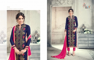 SHREE FABS FIRST CHOICE 19 GEORGETTE EMBROIDERED PARTY WEAR SUITS WHOLESALE T (3)