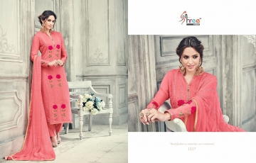 SHREE FABS FIRST CHOICE 19 GEORGETTE EMBROIDERED PARTY WEAR SUITS WHOLESALE T (4)