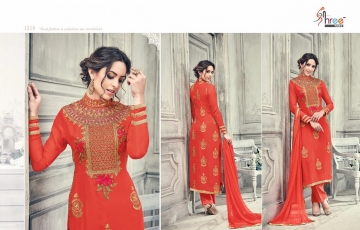 SHREE FABS FIRST CHOICE 19 GEORGETTE EMBROIDERED PARTY WEAR SUITS WHOLESALE T (6)