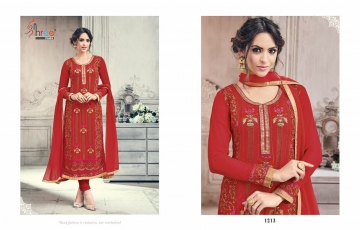 SHREE FABS FIRST CHOICE 19 GEORGETTE EMBROIDERED PARTY WEAR SUITS WHOLESALE T (9)