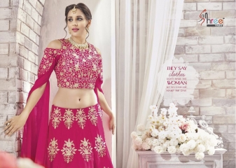 SHREE FABS GAJRA FESTIVAL COLLECATION LEHENGA CATALOG BEST ARTE BY GOSIYA EXPORTS SURAT (3)