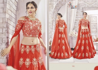 SHREE FABS GAJRA FESTIVAL COLLECATION LEHENGA CATALOG BEST ARTE BY GOSIYA EXPORTS SURAT (5)