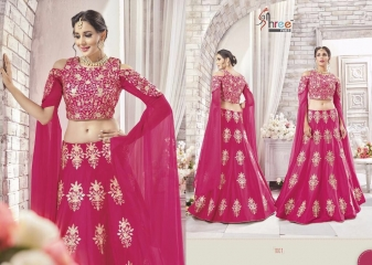 SHREE FABS GAJRA FESTIVAL COLLECATION LEHENGA CATALOG BEST ARTE BY GOSIYA EXPORTS SURAT (8)