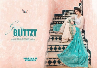 SHREE FABS MARIA B LAWN COLLECTION PAKISTANI SUITS 2017 COLLECTION WHOLESALE BEST RATE BY GOSIYA EXPORTS (8)