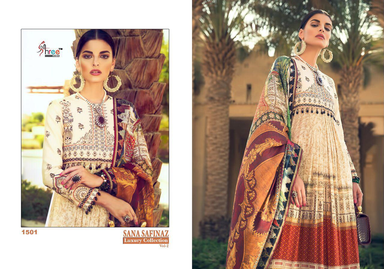96880fe07f SHREE FABS SANA SAFINAZ LUXURY COLLECTGION VOL 2 COTTON EMBROIDERED  COLLECTION (1)