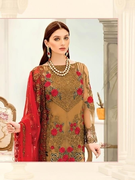 SHREE FABS SURAT AFROZEH EMBROIDERED COLLECTION PAKISTANI SUITS WHOLESALE DEALER BEST RATE BY GOSIYA EXPORTS SURAT (1)