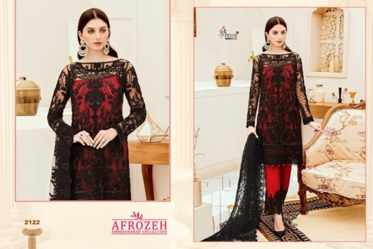 SHREE FABS SURAT AFROZEH EMBROIDERED COLLECTION PAKISTANI SUITS WHOLESALE DEALER BEST RATE BY GOSIYA EXPORTS SURAT (6)