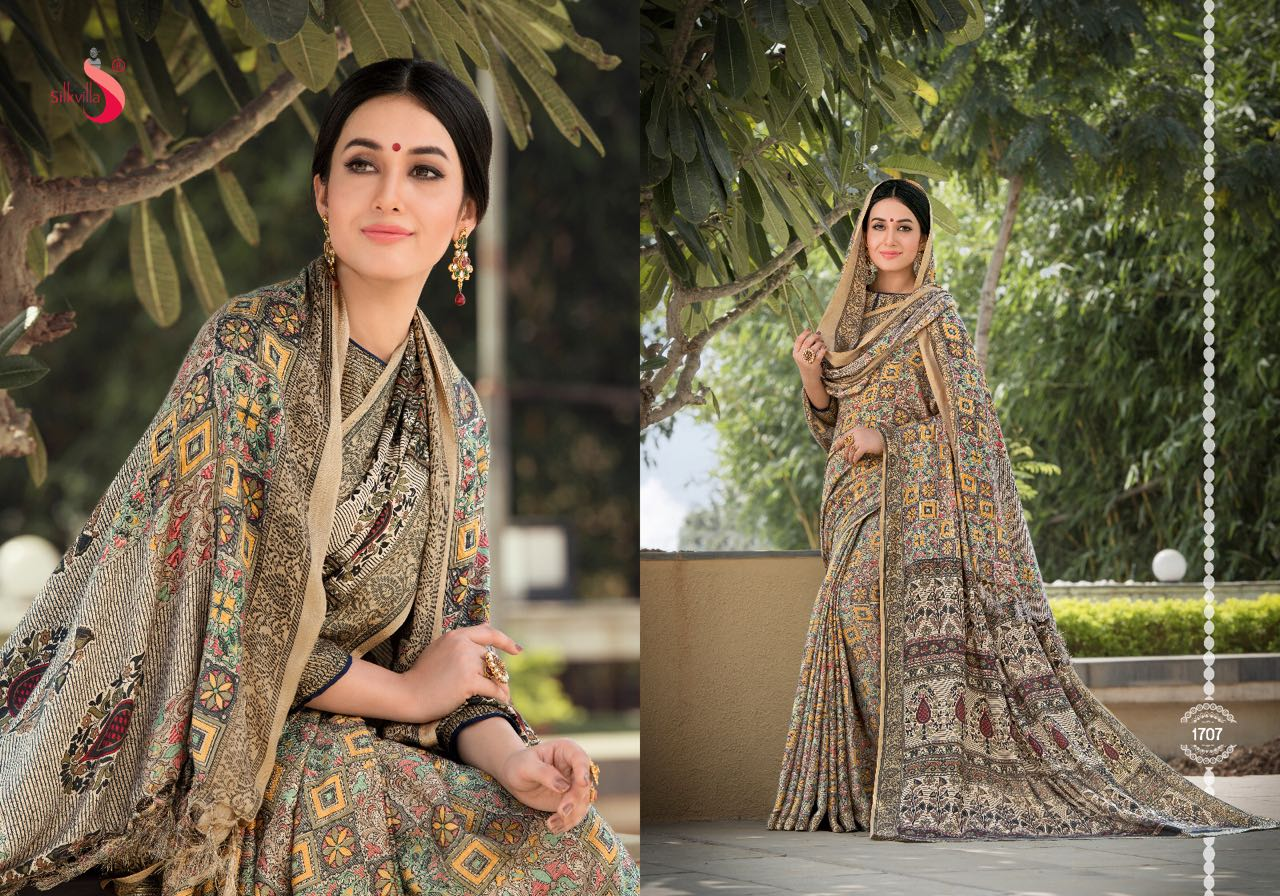 fe82c142aa SILK VILAA SAREE COLLECTION WITH PASHMINA SHAWL COLLECTION ONLINE WHOLESALE  RATE (7)