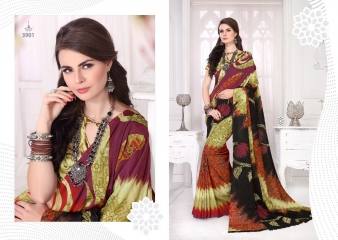 SILKVILLA COCHI SILK VOL 2 DIGITAL PRINTS SILKS DESIGNER WEAR SAREES WHOLESALE (13)