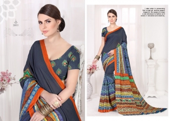 SILKVILLA COCHI SILK VOL 2 DIGITAL PRINTS SILKS DESIGNER WEAR SAREES WHOLESALE (2)